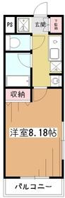 コンフォートアムール2階Fの間取り画像