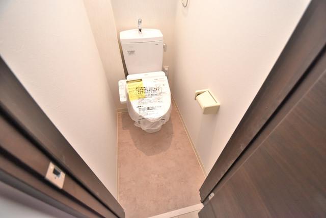 グランパシフィック長瀬スクエア 白くてピカピカのトイレですね。癒しの空間になりそう。