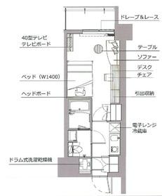 レックスガーデン神楽坂北町6階Fの間取り画像