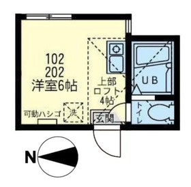 ユナイト鶴見シーガーディアン2階Fの間取り画像