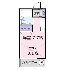アイリスⅣ2階Fの間取り画像
