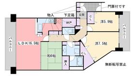 ロイヤルアーク姪浜4階Fの間取り画像