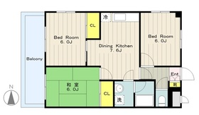 西武マンション3階Fの間取り画像