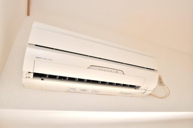 ロータリーマンション長田東 エアコンが最初からついているなんて、本当に助かりますね。
