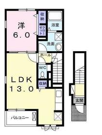 カーサMA2階Fの間取り画像