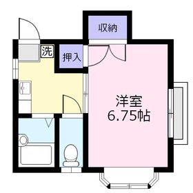 サニープレイス2階Fの間取り画像