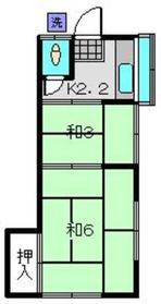 萩原荘2階Fの間取り画像