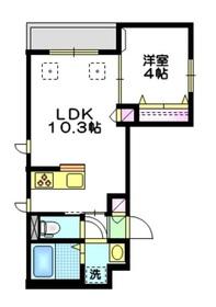 ラ・ベルヴィ 千川2階Fの間取り画像