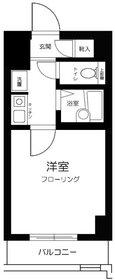 スカイコート日本橋人形町第24階Fの間取り画像