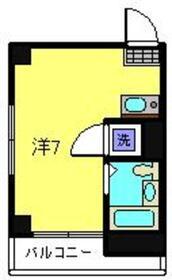タカラコーポ日吉3階Fの間取り画像