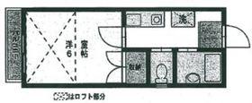 フルハウス生田1階Fの間取り画像