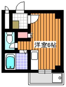 第8藤ホームビル2階Fの間取り画像