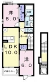 サンリットヴィラ2階Fの間取り画像