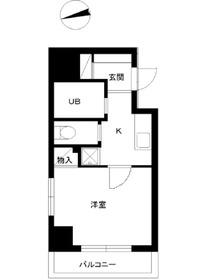 スカイコートヴァンテアン早稲田2階Fの間取り画像