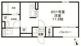 アクイラ・モンテ目黒2階Fの間取り画像