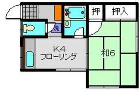 小林荘2階Fの間取り画像