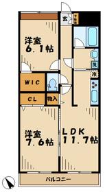 ラピュール2階Fの間取り画像