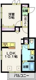 御嶽山駅 徒歩5分2階Fの間取り画像