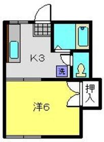 ハイツトキワ1階Fの間取り画像