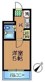 コート・オダマキ2階Fの間取り画像