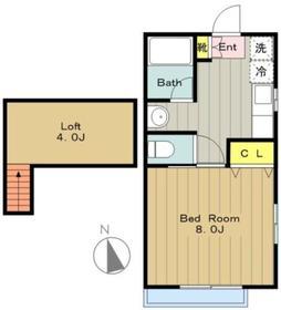 プレミールII2階Fの間取り画像