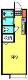 ハウス4×41階Fの間取り画像