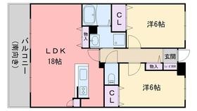 インペリアル大賀 Ⅱ4階Fの間取り画像