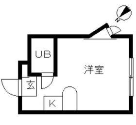 鶴ヶ峰駅 徒歩13分2階Fの間取り画像
