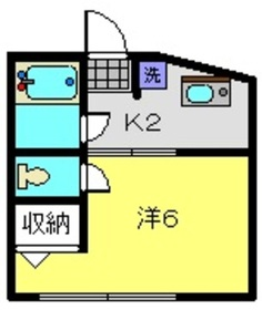 パオ瀬戸ヶ谷1階Fの間取り画像