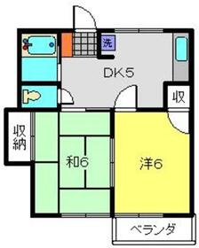 JYハイツ2階Fの間取り画像
