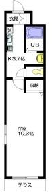パークサイドスクウェア北新宿1階Fの間取り画像