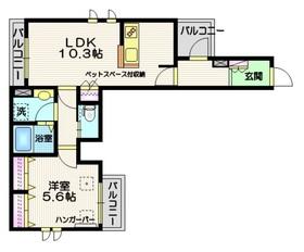 ホーミィ大井町(ペット共生)3階Fの間取り画像