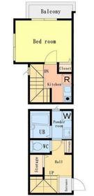 GH二俣川アパートメント1階Fの間取り画像