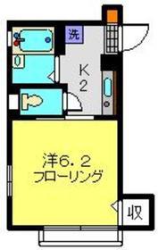 メゾンハイネス1階Fの間取り画像