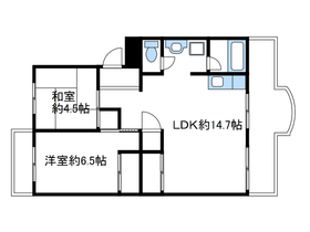 コリーナ332階Fの間取り画像