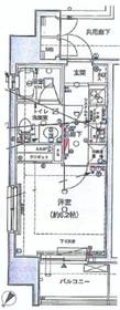 プラージュ月島6階Fの間取り画像