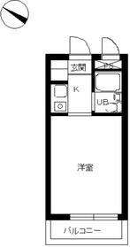 スカイコート西横浜52階Fの間取り画像