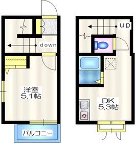 アクティ田園調布2階Fの間取り画像