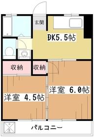 池田マンション3階Fの間取り画像
