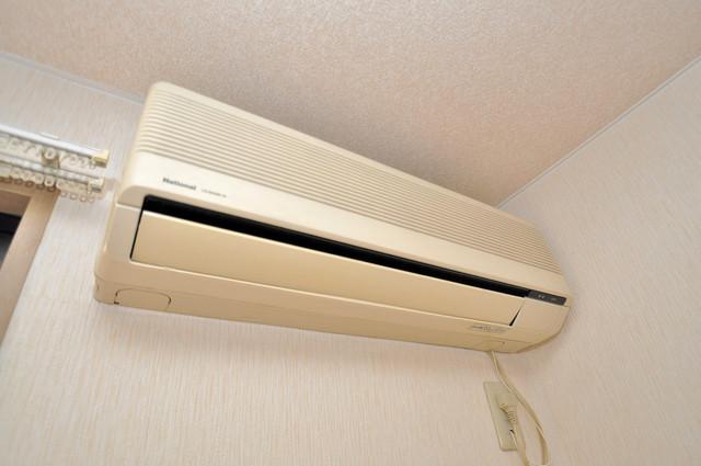 サンビレッジ・デグチⅡ エアコンがあるのはうれしいですね。ちょっぴり得した気分。