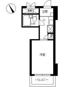 スカイコート横浜山手3階Fの間取り画像