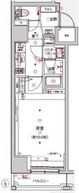 八丁堀駅 徒歩3分11階Fの間取り画像