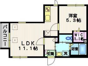 Km1階Fの間取り画像