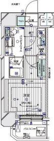 メインステージ川崎クロシアⅡ2階Fの間取り画像
