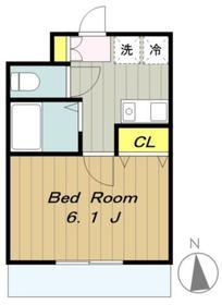 TS橋本ビル2階Fの間取り画像