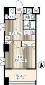 ドゥメゾン戸田6階Fの間取り画像