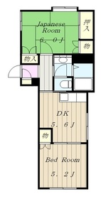 SOUTHOAKIⅠ2階Fの間取り画像