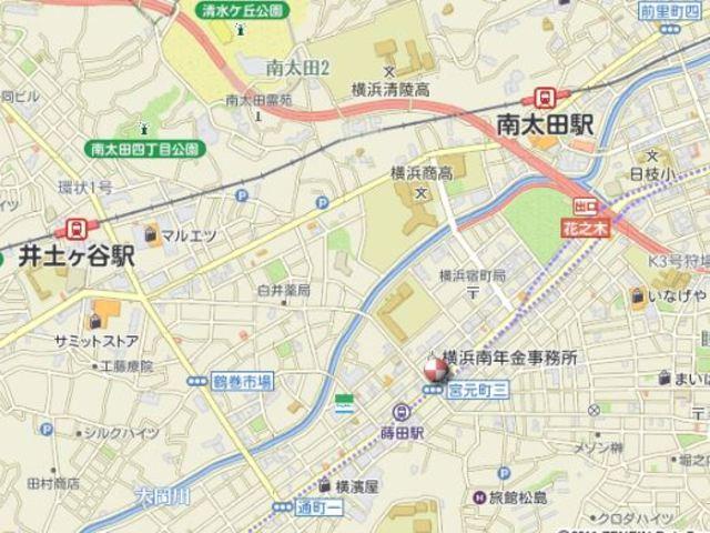 モルゲンロート蒔田案内図