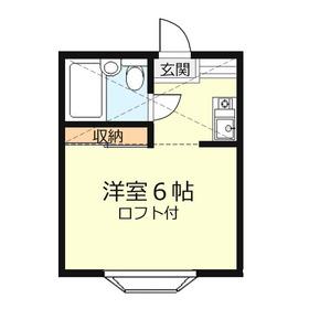 コーポ鶴ケ舞2階Fの間取り画像