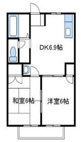 アクティブ山田1階Fの間取り画像